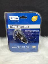 Ativa Bluetooth 2.0 Headset Ac & Car Adapter Black 653-685