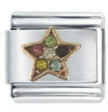 Daisy Charm - ROSE GOLD MULTI GEM STAR - Fits Nomination Classic Italian Charm
