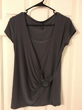 New Beautiful Gray scoop neck womans top size Large