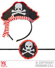 Mini Pirate Hat & Eye Patch Pirates Halloween Fancy Dress Accessory