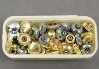 40 x Aufzugskrone Krone Ersatzteil f Armbanduhr Uhr Uhrmacher watch watchmaker