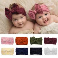 Head Wrap Toddler Turban Baby Nylon Headband Bow Hairband Knotted Turban