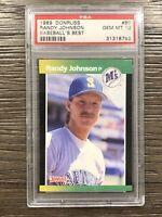 1989 Donruss Baseball's Best Randy Johnson #80 RC Rookie PSA 10