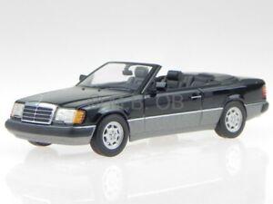 Mercedes A124 300 CE-24 Cabrio noir véhicule miniature Minichamps 1:43