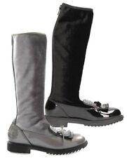 LELLI KELLY VANESSA NERO ARGENTO scarpe stivali stivaletti bambina pelle velluto