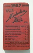 GUIDE MICHELIN  1937