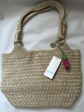 The Sak  Star Fruit Natural Crochet Beige Medium Shopper Tote Bag  NEW