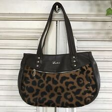 Cristina In Pell Genuine Leather Tote Double Strap Zip Closure Made In Italy