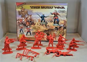 Conte British 24th Foot Infantry Zulu Wars Set 3 with Box Red