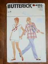 VINTAGE BUTTERICK PATTERN #4363 - MATERNITY TOP, PANTS & SHORTS SZ 8 - UNCUT
