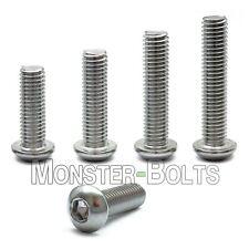 #10-32 - Stainless Steel Button Head Socket Cap Screws SAE Fine Thread 18-8 / A2
