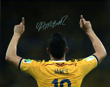 JAMES RODRIGUEZ SIGNED AUTOGRAPH 8X10 PHOTO REAL MADRID FC COLOMBIA