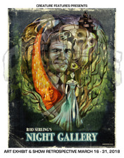 NIGHT GALLERY Rod Serling Twilight Zone Art Print GICLEE Ltd Ed Poster MINT!