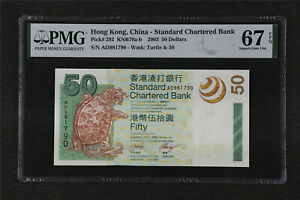 2003 Hong Kong China-Standard Chartered Bank 50 Dollars Pick#292 PMG 67 EPQ UNC