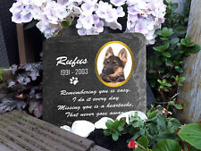 Custom Personalized Memorial Plaque ANY Pet Dog Cat Slate Stone Grave Marker 2