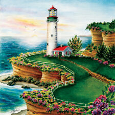 Jigsaw Puzzle Lighthouse at Summer Sunset 500 pieces NEW Made in the USA