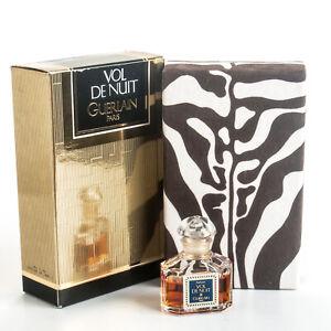Guerlain Vol De Nuit Perfume .25OZ 7.5ml Parfum Extrait Vintage 1989 Quadrilobe