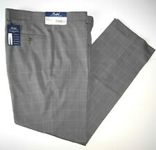 Polo Ralph Lauren Mens Dress Pants 40x30 Light Gray Windowpane Pleated NWT