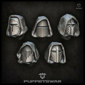 Hooded Crusaders helmets Five models Puppetswar S195