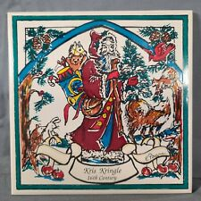 """Payne Creations Hand Painted """"16th Century Kris Kringle"""" Tile With Box EXCELLENT"""