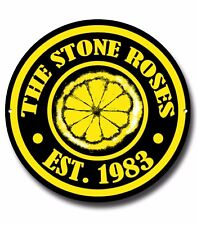 THE STONE ROSES METAL SIGN, MUSIC,ENGLISH ROCK, IAN BROWN, MANCHESTER