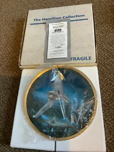 star wars hamilton plate imperial shuttle space vehicles 1995