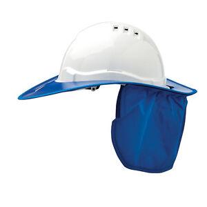 Prochoice SAFETY HARD HAT NECK FLAP Plastic Brim, Suits HHV6 BLUE *Aust Brand