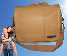 New BILLABONG MESSENGER Shoulder Bag Seizure Satchel Faux Leather Tan