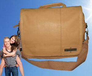 New Authentic Vintage BILLABONG MESSENGER BAG Seizure Satchel Faux Leather Tan
