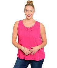 NEW..Stylish Plus Size Pink Sleeveless Top with lace detail..Sz18/2XL