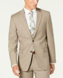 MSRP $450 Tommy Hilfiger Modern-Fit Stretch Tan Sharkskin Jacket Size 38 T/L39.5