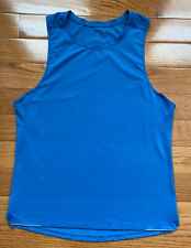 Lululemon Mens Run Out Tank Blue Sleeveless Reflective Tech Run Yoga Size Medium
