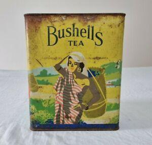 Large Vintage Bushells Tea Tin