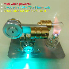 Mini Hot Air Stirling Engine Model Toy w/ LED Light DIY Physics Education Engine