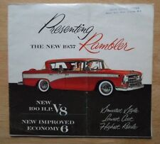Rambler ORIG 1957 USA Mkt opuscolo vendite-Nash AMC Hudson interesse