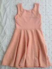 Ladies MISS SELFRIDGE nude Skater Dress Flock Detail Very Pretty Size 12 BNWOT