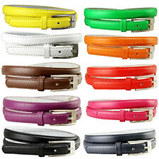"Women Solid Color Skinny Dress Belt, 3/4"" Wide  *Multiple Colors!* SHIPS FROM US"