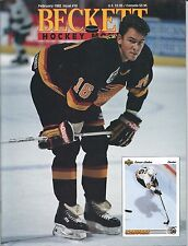 February 1992 Beckett Hockey Price Guide NHL  #16 Trevor Linden & Owen Nolan