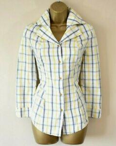 VIVIENNE WESTWOOD RED  Tartan Check 3/4 Sleeve Cotton Shirt Blouse