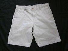 Men's TOMMY BAHAMA Aloha Hawaiian Beige Cotton Blend Bermuda Short  36