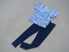 Justice Nwt Girls Sz 8 Shirt - Floral Peasant Shirt & Leggings - So Pretty!