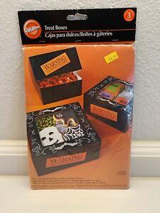"""Wilton Jack-O-Lantern Halloween Treat Boxes 3ct  6.25""""x6.25""""x3"""""""