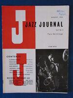 Jazz Journal magazine - August 1956 - Stan Getz on cover