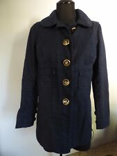 Juicy Couture Navy Trench Driving Coat  Jacket Size Small