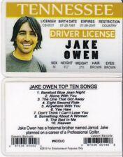 Jake Owen Tennessee TN Drivers License fake id i.d. card