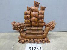 Chinesische Holzskulptur Drache Schiff #31244