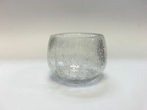 New 10x Crackle Tealight Candle Holder Clear w Crack Wedding Home Decor 5cm