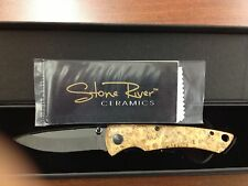 Stone River Gear Ceramic Folding Knife with Desert Ironwood Handle Srg2Bmd