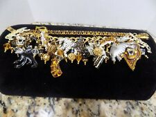 Lunch at the Ritz Africa Safari Animal Three Strand Bracelet Gold Tone MINT