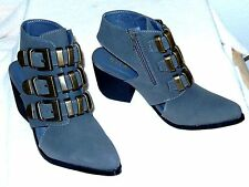 NEW  N.Y.L.A.  Chikako Fashion Ankle Boots- 8 Sexy metal deco & open heel! $99